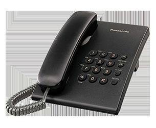 teléfono fijo negro